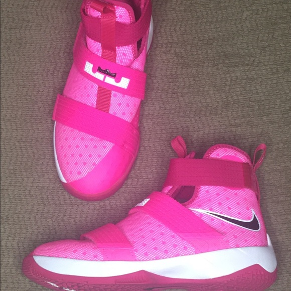 check out b0918 3f00a Pink & White Nike LeBron Soldier 10