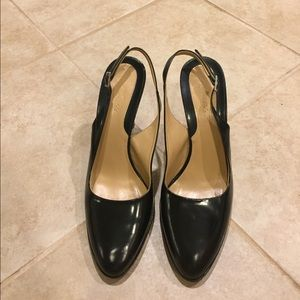 Black Faconnable Leather Heels Size 8M