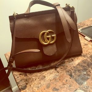Gucci Marmont Leather Top Handle