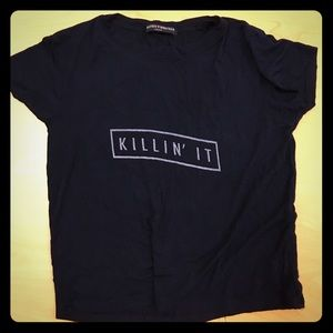 "Brandy ""killin it"" crop top"
