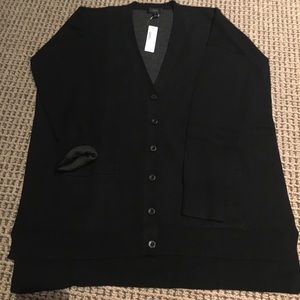 Jcrew double knit oversized black cardigan size M
