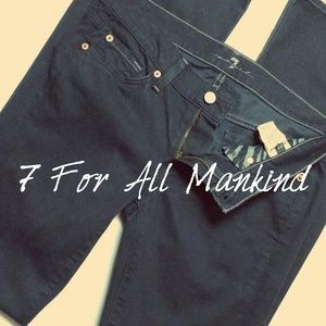 EUC 7 FOR ALL MANKIND 28x33 black jeans stretch