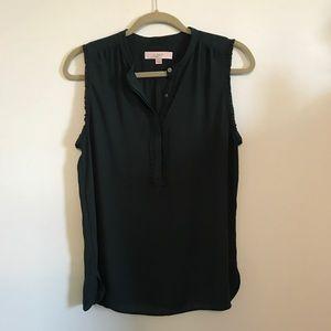 Emerald sleeveless top