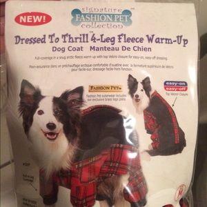 NWT Medium Dog Red Fleece Coat