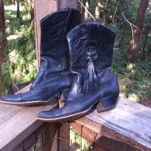Larado  black leather cowgirl boots