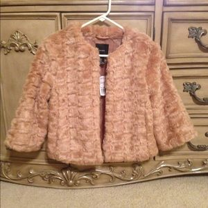 Faux Tan fur coat