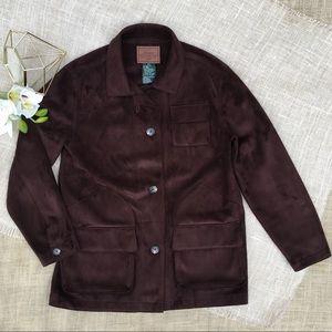RALPH LAUREN Jacket Dry Goods Supply Faux Suede