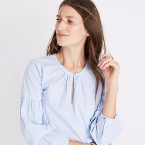 Madwell Striped Peasant Top