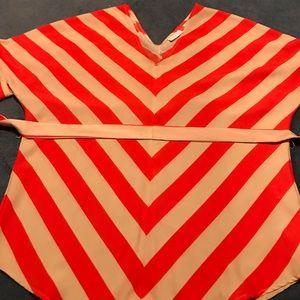 Orange/cream shirt from NY&C