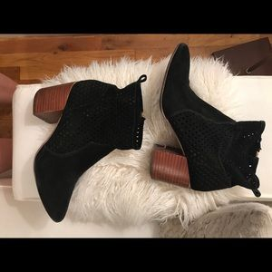 Jessica Simpson Perforated Booties with Wood Heel