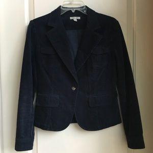 Navy Blue Corduroy Jacket
