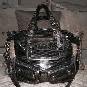 Coach Metallic Poppy Collection Shoulder Bag