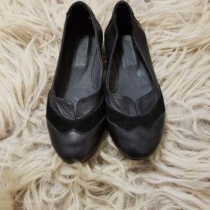 Italian leather ballet flats