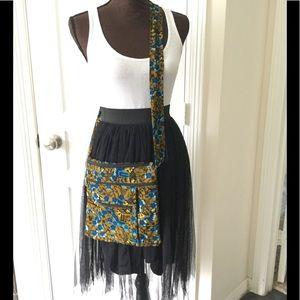 Handmade African Print Crossbody Bag