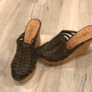 Mia Brown Wedges size 9.5