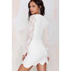 FOR LOVE & LEMONS – Noir Mini Dress White Small