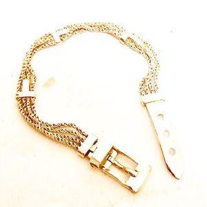 Authentic Rare Tiffany 925 T Buckle Bracelet