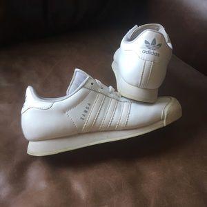 White Adidas Samoa Sneakers