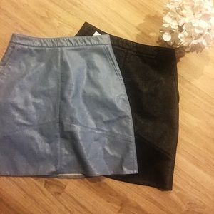 ✨ Zara Faux Leather Skirts - Perfect for Work! ✨