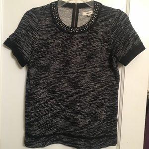 Madewell embellished short sleeved sweatshirt top