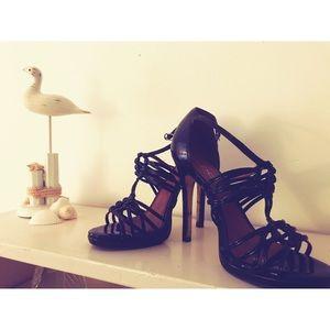 Aldos black strapping sandals