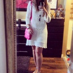 H&M white crochet dress