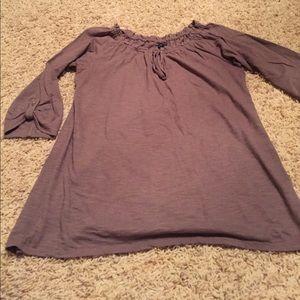 Gap brown peasant blouse