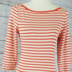 Old Navy Striped Orange Sweater