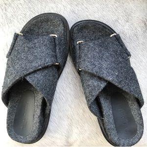 Marni Wool Fussbett Crisscross Slide Sandals