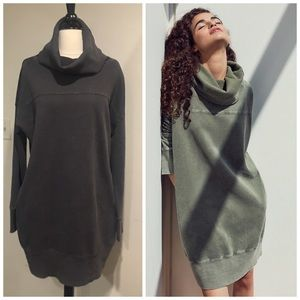 Silence + Noise Sweatshirt Turtleneck Mini Dress