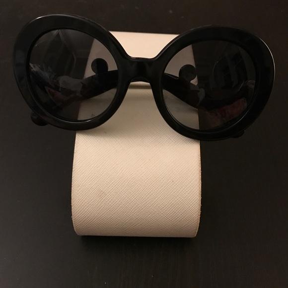 50f1e5909a8 Prada Baroque Black Sunglasses. M 59c86fa7f739bc72aa057688. Other  Accessories ...