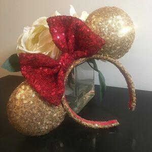 Custom Disney Belle Themed Minnie Ears