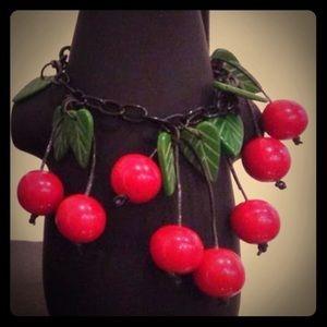 Handmade Cherry Bracelet! 🍒