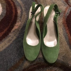 Green Nine West Heels