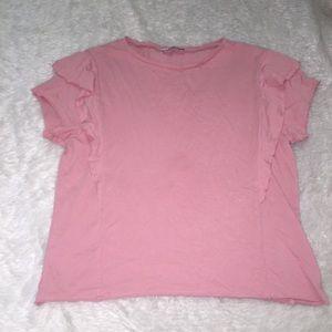 Zara pink t shirt