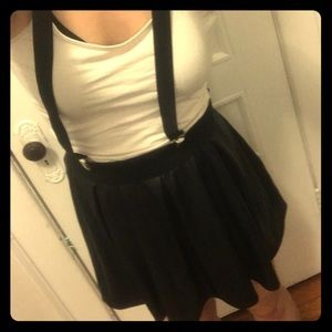 Pleather suspender skater skirt!