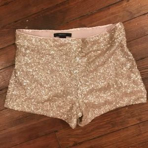 Forever 21 Gold Sequin Shorts Size Small