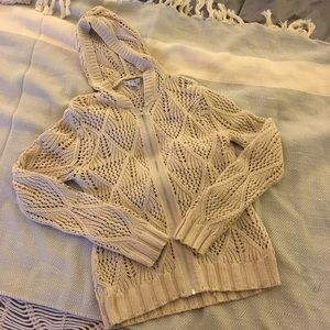 CAbi by the sea hooded cardigan sweater