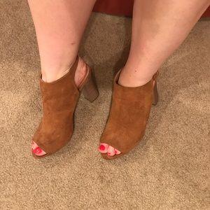Madden girl open toe heels
