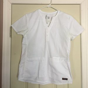 Tops - White scrub top