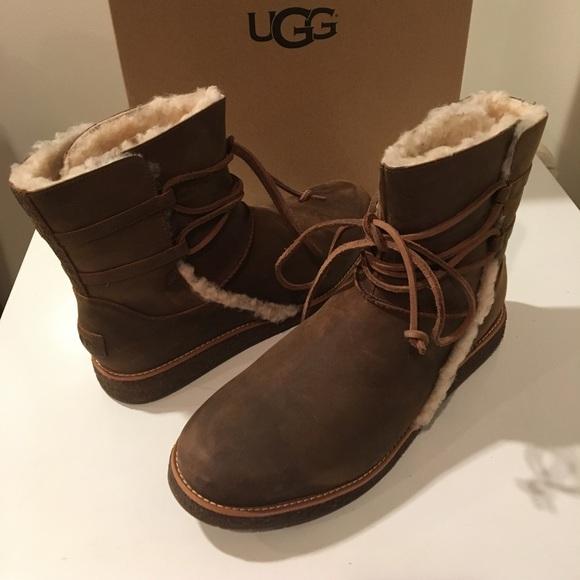 b885528b43b New Classic Ugg Luisa Nubuck Chestnut boots Sz 11 NWT