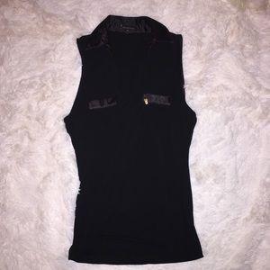 Black cutoff shirt