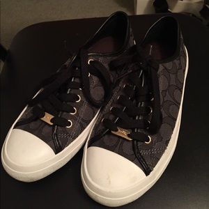 Black and Watch Coach sneakers