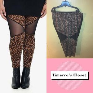 Torrid Cheetah Print  & Mesh Leggings