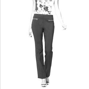 BNWT NY&Co Brown Slim Flare Dress Pants -Stretch