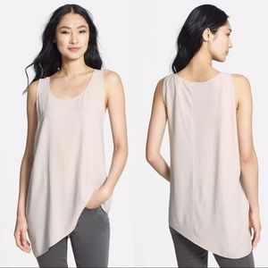 Eileen Fisher U-NK Side Drape Shell Tank Size L