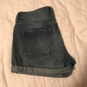 J.Crew Dark Wash Cuffed Jean Shorts