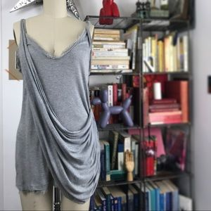 DVF Cotton Silk Grecian Draped Tank Top