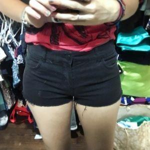 😍BOGO😍 Low Rise Black Jean Shorts