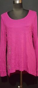 Breast Cancer Awareness Striped Tunic Top